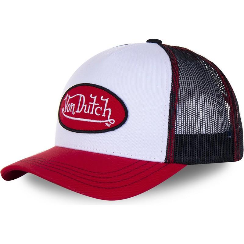 Von Dutch Trucker Cap white//red