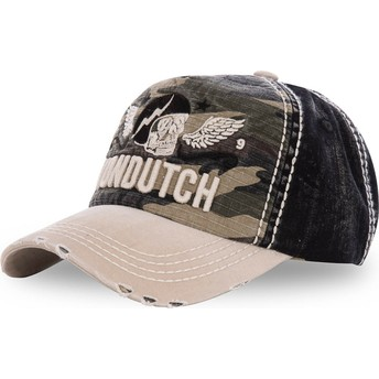 Von Dutch Curved Brim XAVIER07 Camouflage, Black and Brown Adjustable Cap