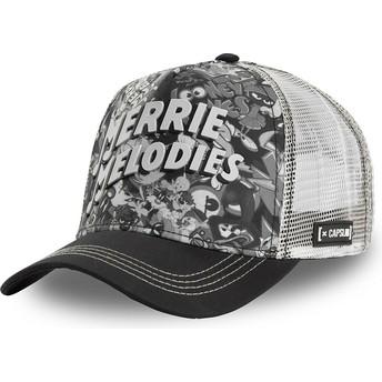 Gorra trucker negra y blanca Merrie Melodies BAW1 Looney Tunes de Capslab