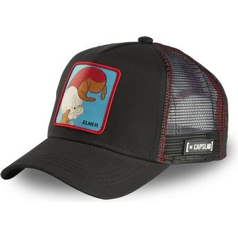 Gorra trucker negra Elmer Gruñón ELM2 Looney Tunes de Capslab