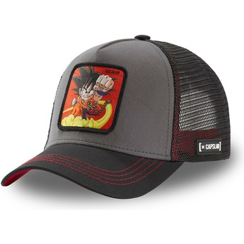 Capslab Kid Son Goku GOK4 Dragon Ball Grey and Black Trucker Hat