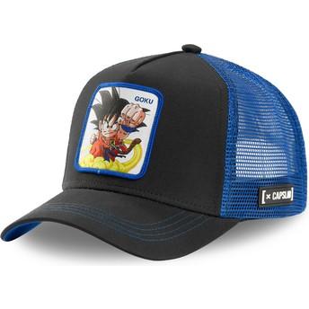 Gorra trucker negra y azul Son Goku Niño GOK4 Dragon Ball de Capslab