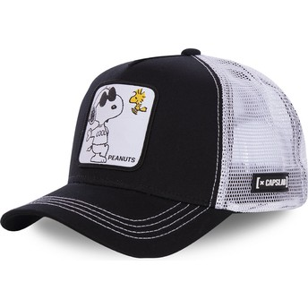 Capslab Snoopy Joe Cool NAW1 Peanuts Black and White Trucker Hat