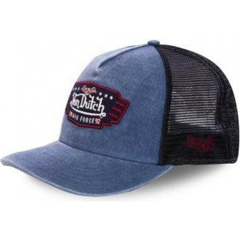 Von Dutch Air Force TOP2 Navy Blue and Black Trucker Hat