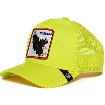 Gorra trucker amarilla águila Freedom de Goorin Bros.