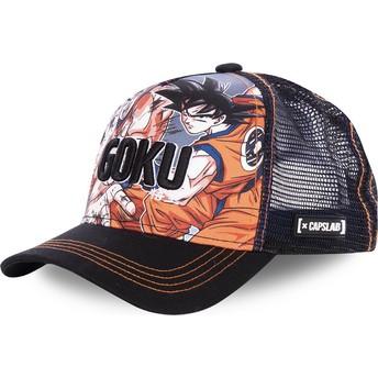 Capslab Son Goku DBZ GOK Dragon Ball Black Trucker Hat