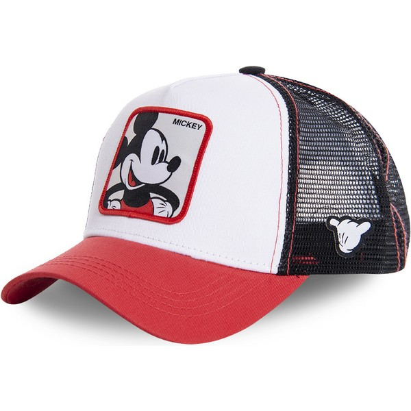 capslab-youth-mickey-mouse-kidmic4-disney-white-black-and-red-trucker-hat