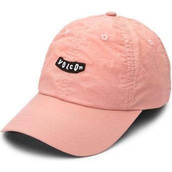 Gorra curva rosa ajustable Stop And Pink Petal Pink de Volcom