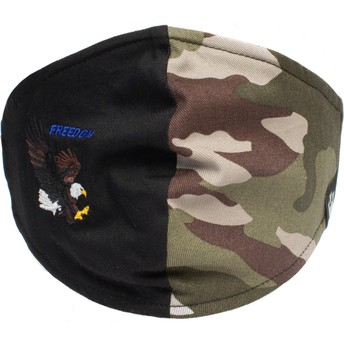 Goorin Bros. Eagle High Flyer Black and Camouflage Reusable Face Mask