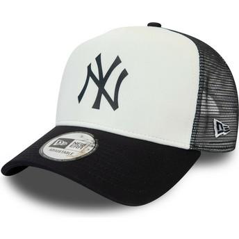 Gorra trucker blanca y azul marino Team Colour Block A Frame de New York Yankees MLB de New Era