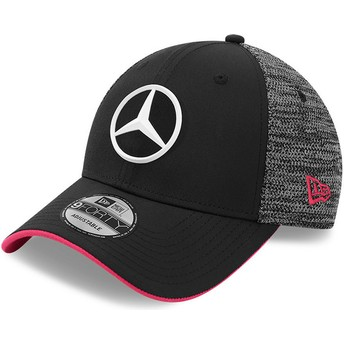 New Era Curved Brim 9FORTY Tonal eSports Mercedes Formula 1 Black Adjustable Cap
