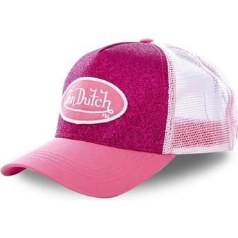 Gorra trucker rosa PIN de Von Dutch