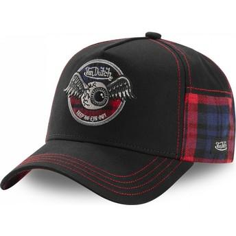 Von Dutch ACAR RED Black Trucker Hat