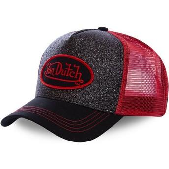 Gorra trucker negra y roja FLAK RED de Von Dutch