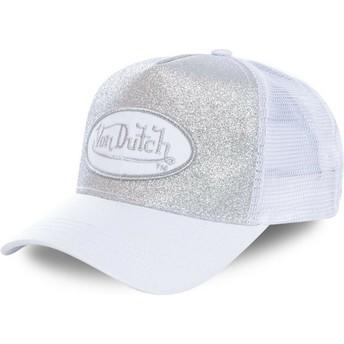 Von Dutch FLAK WHI White Trucker Hat