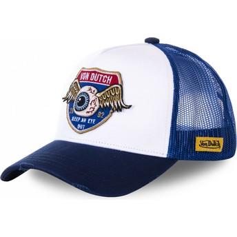 Gorra trucker blanca y azul HIG1 de Von Dutch