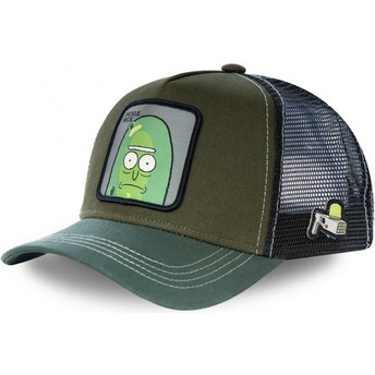 Capslab Pickle Rick REM PIC2 Rick and Morty Green Trucker Hat