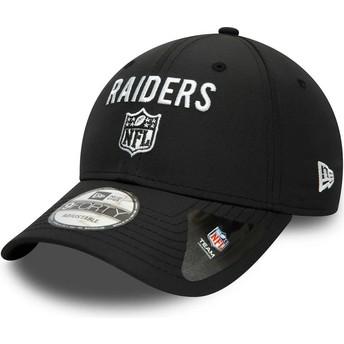 Gorra curva negra ajustable 9FORTY Team Flag de Las Vegas Raiders NFL de New Era