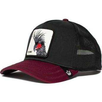 Goorin Bros. Bird Punk Sqwauk Black and Maroon Trucker Hat
