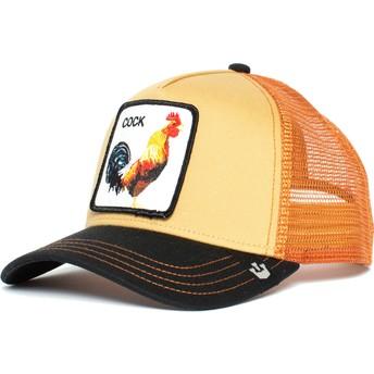 Gorra trucker naranja y negra gallo A Doodle Doo de Goorin Bros.