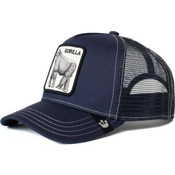 Goorin Bros. Gorilla King of the Jungle Navy Blue Trucker Hat