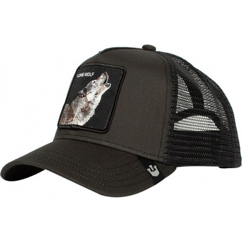 Goorin Bros. Wolf Moon Lover Black Trucker Hat