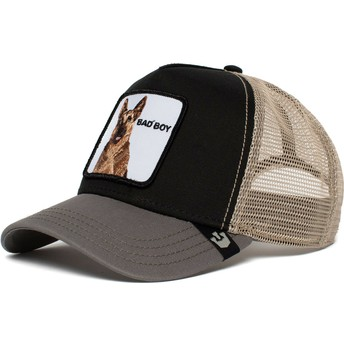 Goorin Bros. German Shepherd Dog Bouncer Black and Grey Trucker Hat
