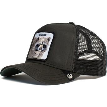 Gorra trucker negra mapache Bandit de Goorin Bros.
