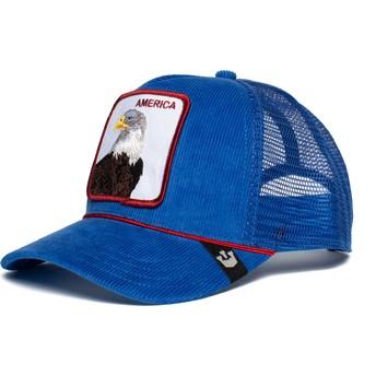 Gorra trucker azul águila America For Real de Goorin Bros.