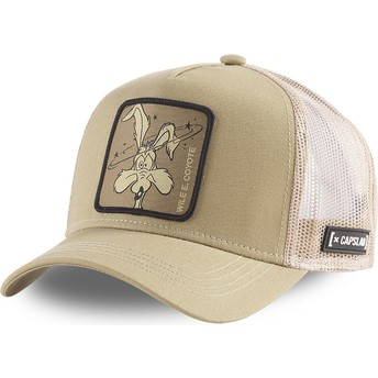 Capslab Wile E. Coyote LOO COY1 Looney Tunes Brown Trucker Hat