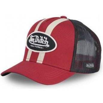 Von Dutch STRI R Red Trucker Hat
