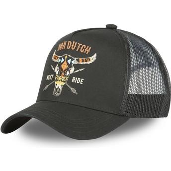 Von Dutch West Ride FREE NR Black Trucker Hat