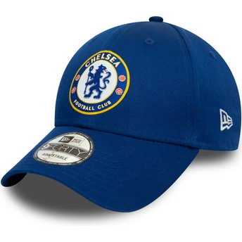 Gorra curva azul snapback 9FORTY Chelsea Football Club de New Era