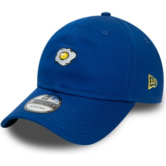 New Era Curved Brim 9TWENTY Food Fried Egg Blue Adjustable Cap