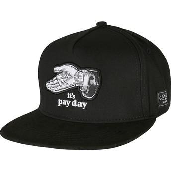 Gorra plana negra snapback WL Pay Me de Cayler & Sons