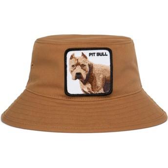Bucket marrón perro pitbull Misunderstood de Goorin Bros.