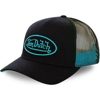 Gorra trucker negra con logo cian NEO CYA de Von Dutch