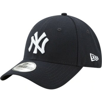 New Era Curved Brim 9FORTY The League New York Yankees MLB Navy Blue Adjustable Cap