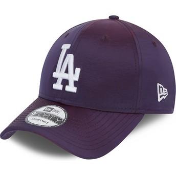 Gorra curva violeta ajustable 9FORTY Hypertone de Los Angeles Dodgers MLB de New Era