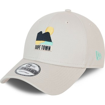 Gorra curva beige ajustable 9FORTY Summer Cape Town de New Era