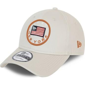 Gorra curva gris ajustable 9FORTY USA Flag de New Era