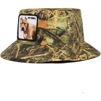 Goorin Bros. Dog Pitbull Misunderstood The Farm Camouflage Bucket Hat