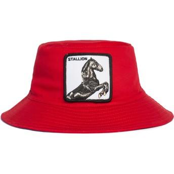 Goorin Bros. Horse Stallion I'm A Little Hoarse The Farm Red Bucket Hat