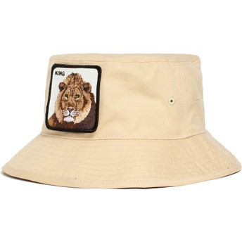 Bucket marrón león King Lion Around The Farm de Goorin Bros.