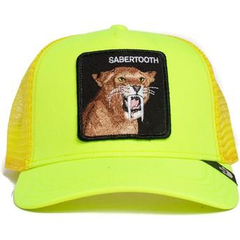 Gorra trucker amarilla dientes de sable Sabertooth Tootache The Farm de Goorin Bros.