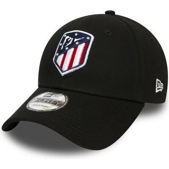 Gorra curva negra ajustable 9FORTY Essential de Atlético de Madrid LFP de New Era