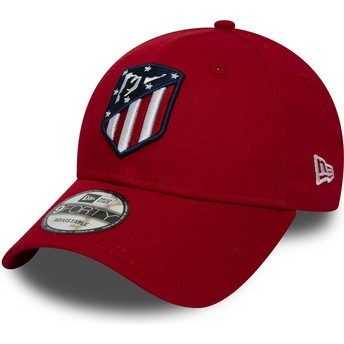 Gorra curva roja ajustable 9FORTY Essential de Atlético de Madrid LFP de New Era