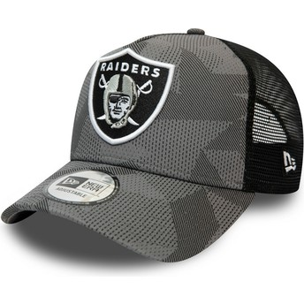 Gorra trucker camuflaje negro A Frame de Las Vegas Raiders NFL de New Era