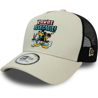 Gorra trucker gris Character A Frame Pato Lucas Looney Tunes de New Era
