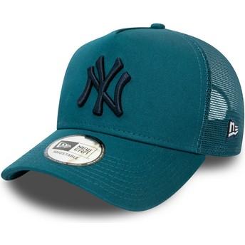 Gorra trucker azul con logo negro League Essential A Frame de New York Yankees MLB de New Era